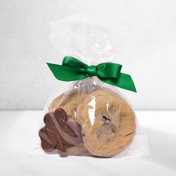 St Patrick's Day Party Favor Gift BaG Of Cookies And CHOCOLATE shamrock