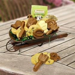 Wheel Barrow Gift Basket of Landscaping Treats
