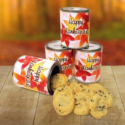 Thanksgiving Quart Tin of Cookies Gift