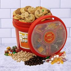 Tub o' Treats Cookie and Chocolate Basket Combo